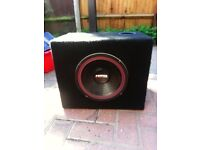 Subwoofer clothed box with 10inch 600 watts subwoofer