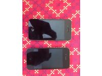 2 Iphone 4 and 4s for in great condition