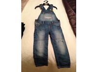 2 pairs of boys dungarees