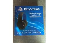 PlayStation wireless stereo headset 2.0 ps3 PS4