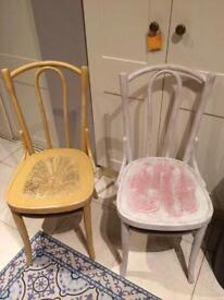 Vintage shabby chic wooden Chairs