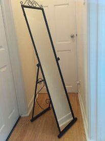 Home Scroll Cheval Freestanding Mirror, black