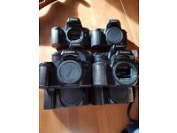 Canon EOS 1000f camera x8