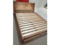 King size bed frame wood