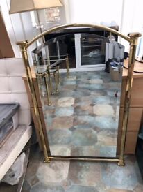 Mirror Living Room/Hallway Large Rectangle with Gold Coloured Solid Frame