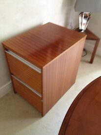 Filing Cabinet - 2 drawer, professional wood finish cabinet Buyer collects