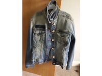 Next women's distressed denim jacket hardly used if at all size 14