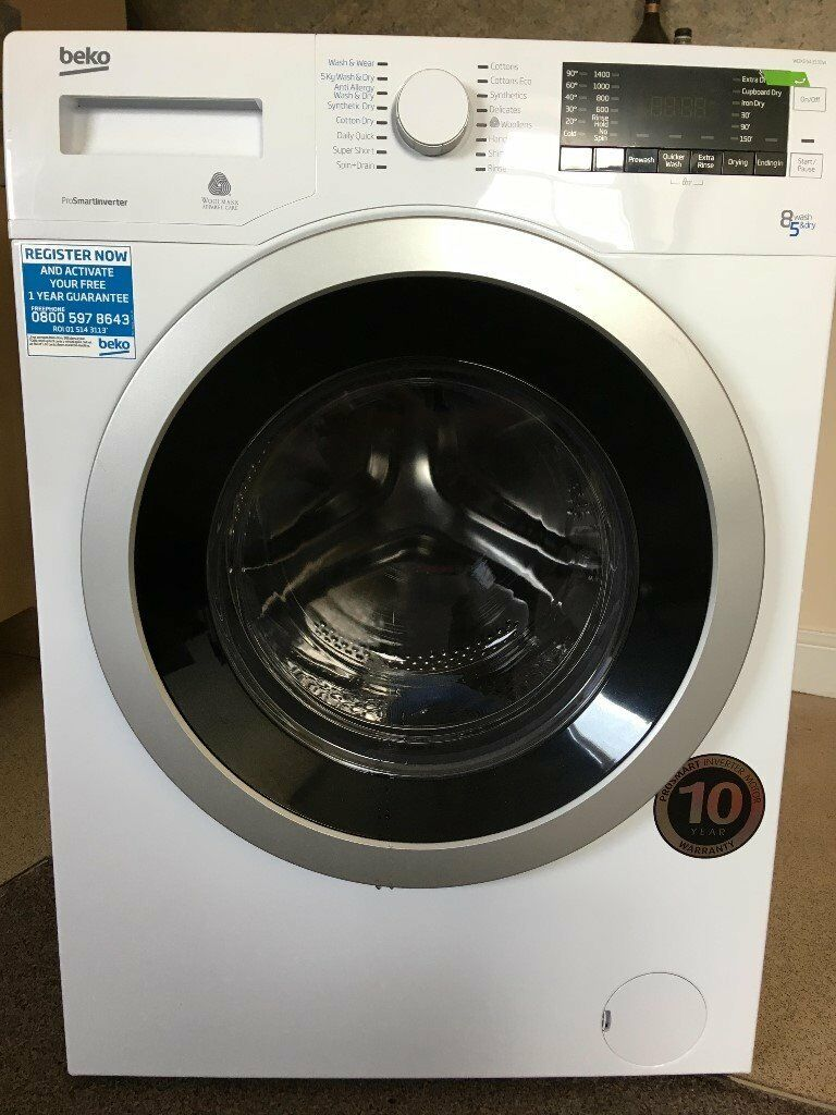 Beko Wdx854313 0w Washerdryer As New Used Twice Complete With