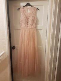 Pink long dress Size 10