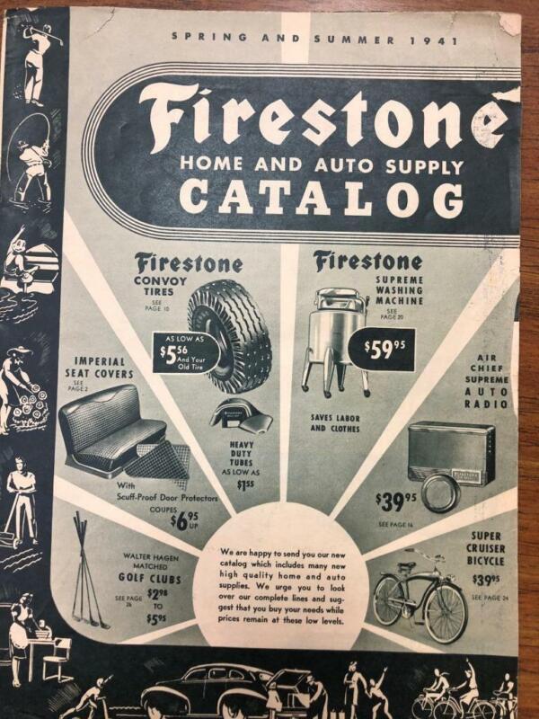 1941 Firestone Spring Summer Catalog Auto Supplies,Tires, Bicycles  etc
