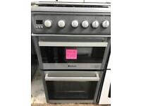 //(%)\ HOTPOINT GREY GAS COOKER INCLUDES 6 MONTHS GUARANTEE