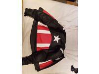 Motorbike Captain America Leather Jacket Large