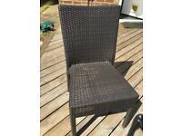 *Brown Rattan Chairs for sale - Set of 6 Available*