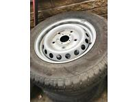 FORD TRANSIT CUSTOM STEEL WHEELS WITH NEW PREMIUM TYRES