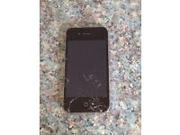 iPhone 4.. Smashed screen!