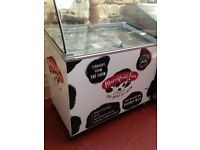 TEFCOLD IC300SCE AND CANOPY SCOOP ICE CREAM DISPLAY ( ex display )