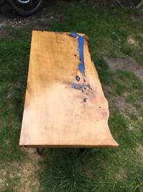 Hand made coffee table