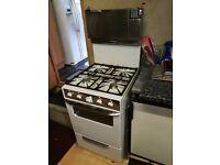 Cannon Gas Cooker Oven Hob Grill White Retro Classic Rare Rotisserie
