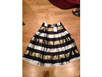 New skirt black and gold