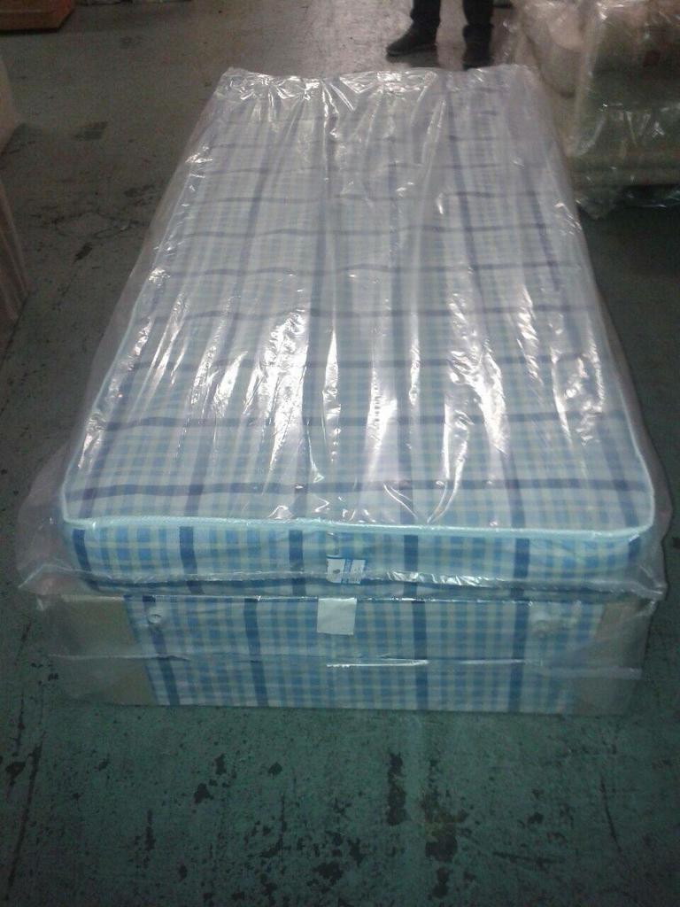 Brand new single divan bed and mattress -