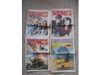 4 SOUNDS music magazines - 2 from July 1984, 2 from August 1984