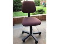 Used Brown Fabric Swivel Office / Desk Chair