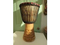 """** DJEMBE DRUM WITH PROTECTIVE CARRY BAG(STAGG). 11"""" DIAMETER SKIN. HEIGHT 22"""".**"""