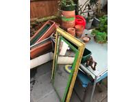 Job lot of pots and garden bits and table