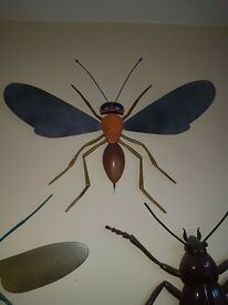 Handcrafted wooden insect ornament
