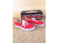 NEW red Vans size 4