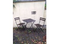 IKEA Garden Table and Two Chairs
