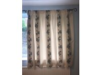 High quality lined curtains - width 83in x drop 54in