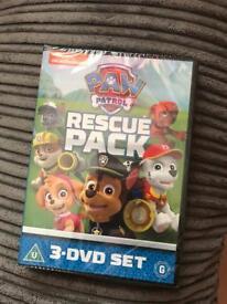Paw patrol 3 DVD set sealed