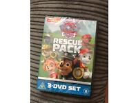 Paw patrol 3 DVD set sealed