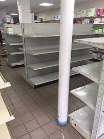 RETAIL SHOP SHELVING MUST BE SOLD SAVE MOVING TO WAREHOUSE ALL IN GOOD CONDITION MUST BE SEEN