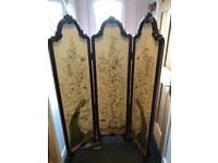 Antique mahogany dressing screen in very good condition