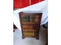 Antique wooden cabinet imitating book shelfs / One of a kind