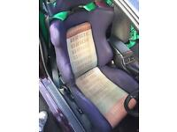 Bride Brix Reclining Bucket Seat on Nissan S13 rail. JDM