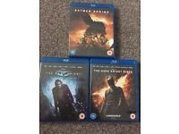 Batman Blu Ray dvd trilogy