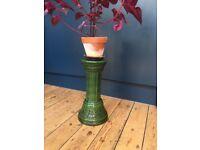 Vintage 70s Flower ceramic flower pillar /stand