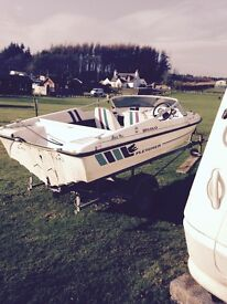 Speed boat and trailer (no out board)