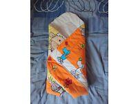 Newborn baby swaddle,blanket wrap, duvet or sleeping bag £5