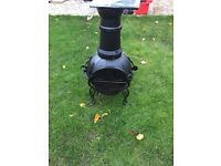 Chimenea used once with grill and cover
