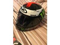 Hjc arpha 10 helmet and alpinestar gloves