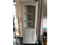 Shabby Chic corner shelves with cupboard