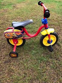 """Fireman Sam 10"""" kids/children's bike"""