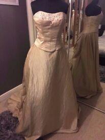 Brand New Wedding Dress (Ex Stock) Size 12 Light Gold