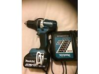 Makita brushless hammer drill with 3amp battery and charger
