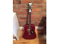 Epiphone Pro 1 acoustic guitar wine red