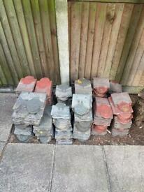 Exterior wall tiles reclaimed